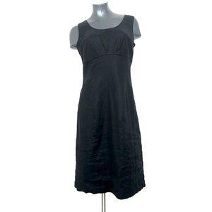 Boden Casual 100% Linen Sleeveless Black Dress LBD